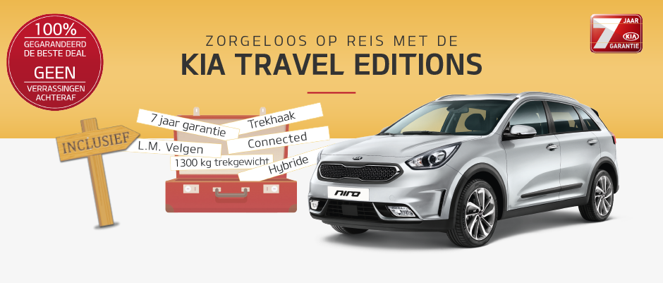 Zorgeloos op reis met de Kia Travel Editions