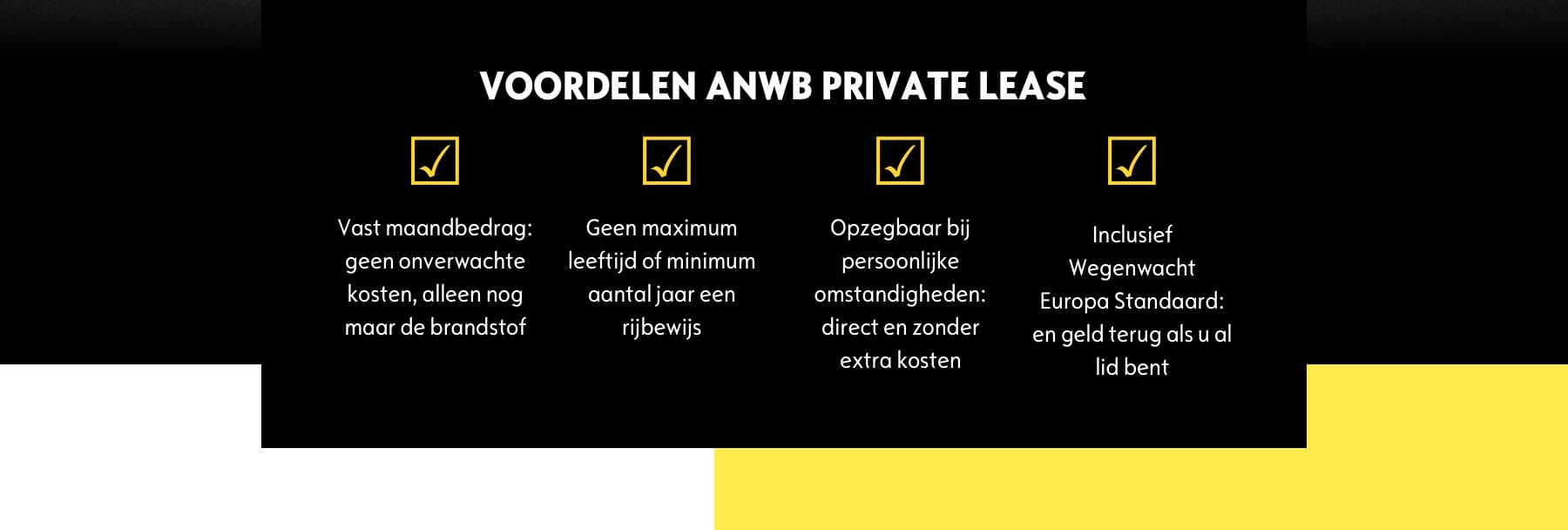 VOORDELEN ANWB PRIVATE LEASE