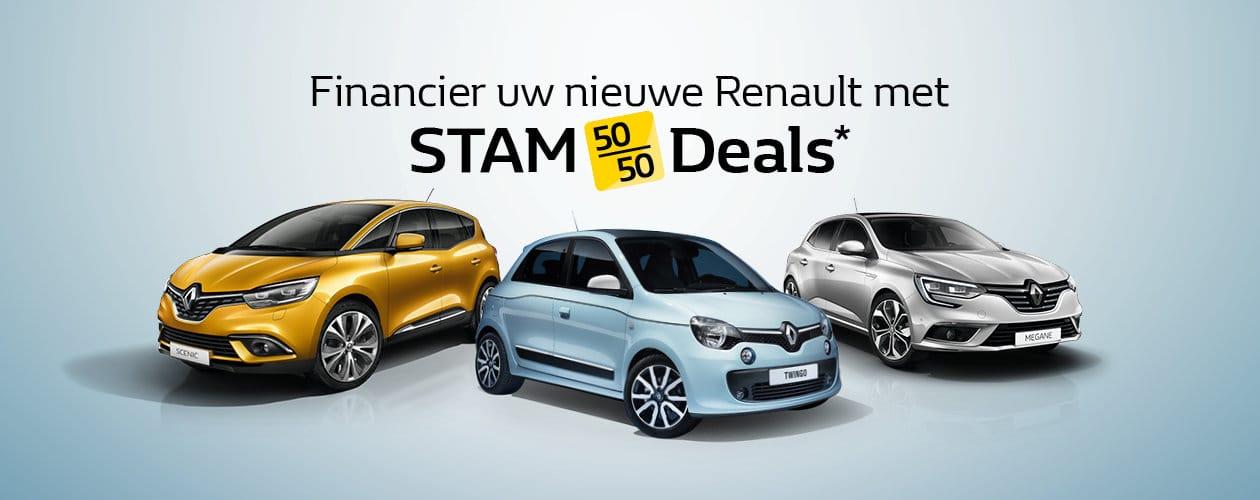 Financier uw nieuwe Renault met Stam Deals
